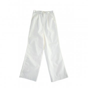 Satin switch tuck pants