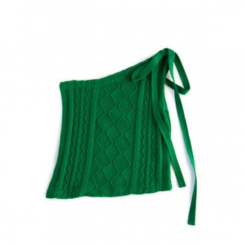 One shoulder asymmetric knittops