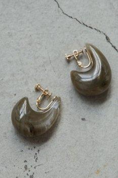 Marble snail earrings