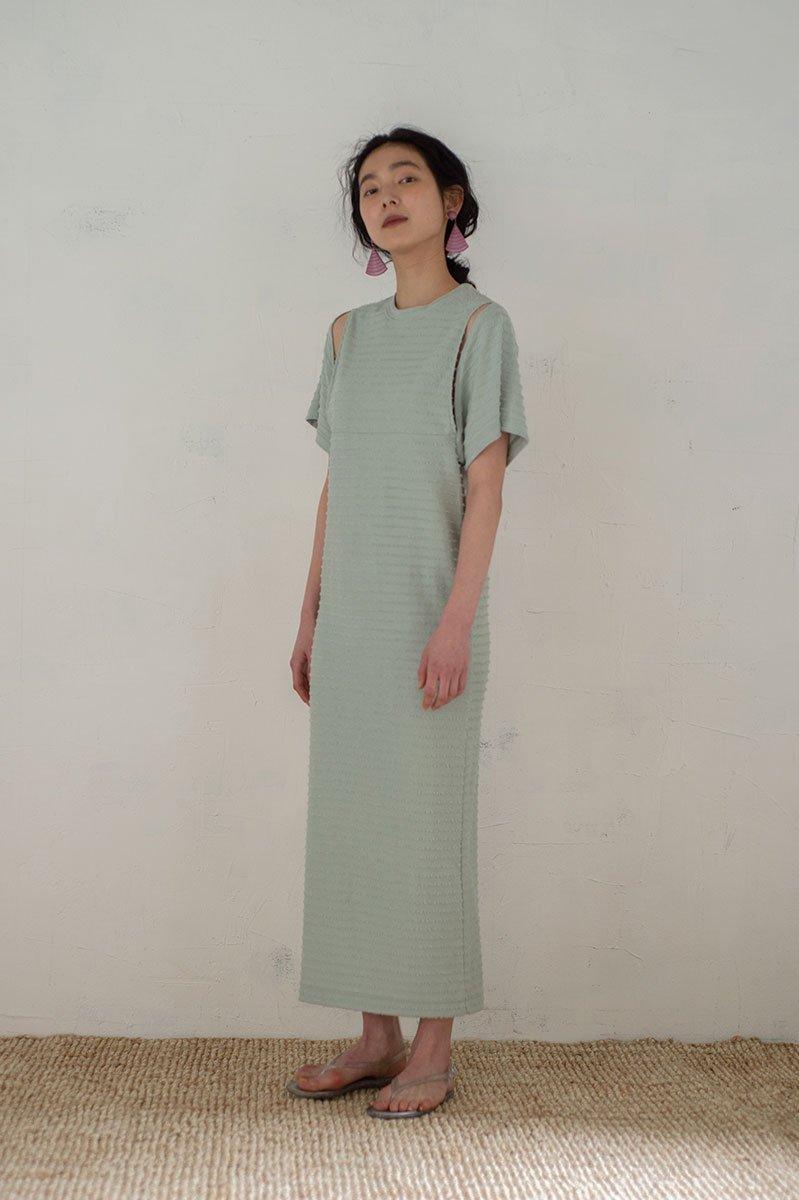 Cut sleeve tee dress /SAGE