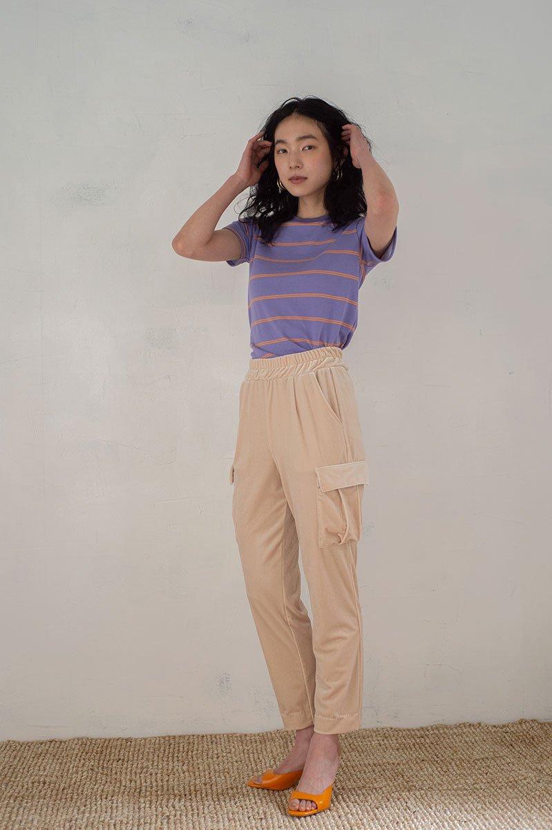 Work pocket velvet pants /CRM
