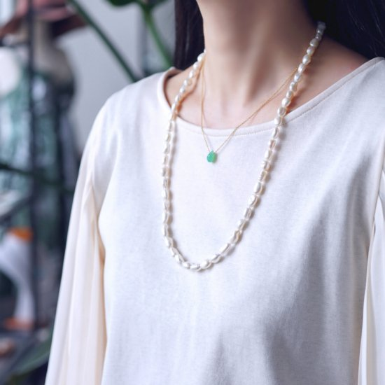 バロック淡水真珠の60cmネックレス 〜Sofia