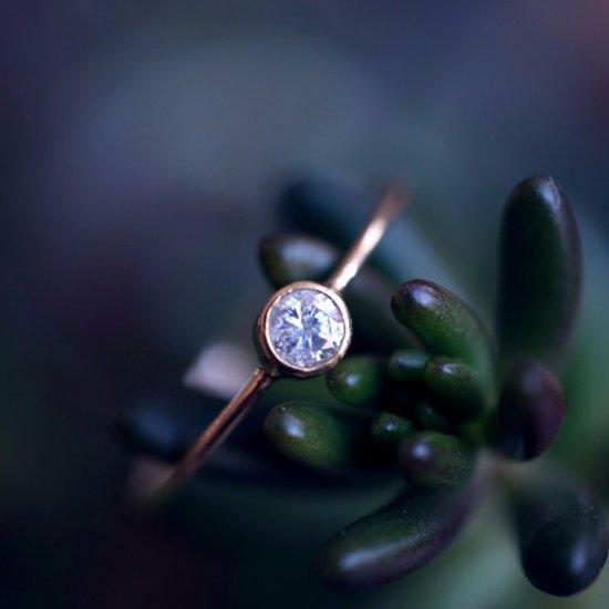 K18ダイヤモンドのフクリンリング ~Maria