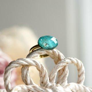 フリーサイズ★クリソコラ×水晶のリング 〜Aura