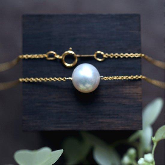 大粒真珠の一粒ネックレス 〜Petrona