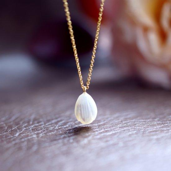 白蝶貝の花つぼみネックレス 〜Selene