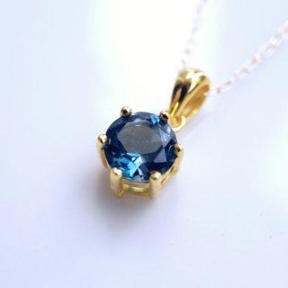 K18最上級ロンドンブルートパーズのネックレス 〜Minerva