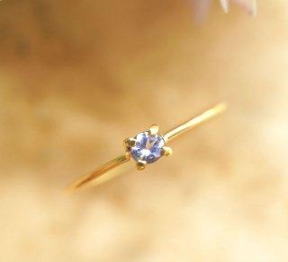 K18タンザナイトのリング 〜urania
