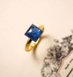 フリーサイズ★テトラゴン・カイヤナイトのリング 〜Camillo