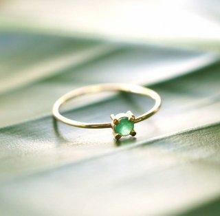 K18エメラルドのリング 〜Rita