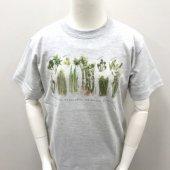 山菜プリントTシャツ(グレー)