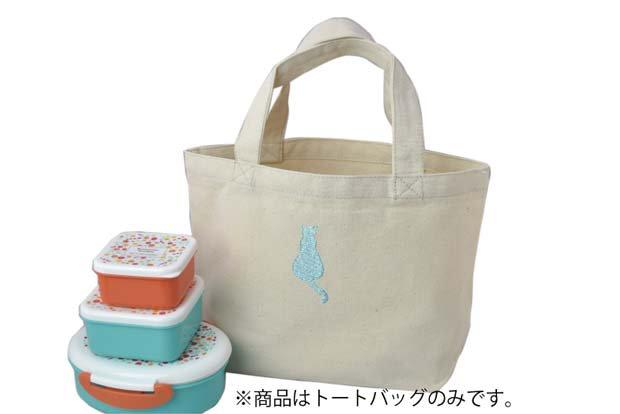 猫ー55(ラメネコA/blue)×トートバッグ