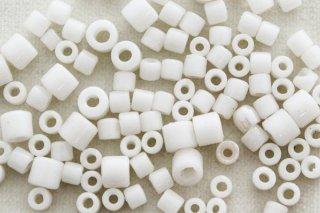 ヴィンテージビーズ 10g/白筒サイズMIX