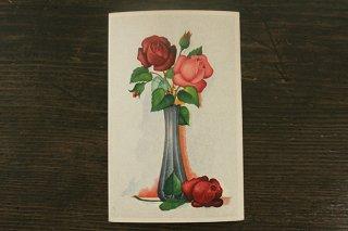 古い葉書(花瓶のバラ)