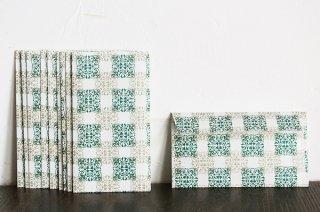 包装紙封筒 緑の蔦