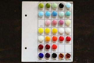 ガラスボタンの色見本シート/緑青赤系