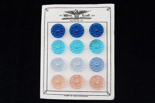 丸いガラスボタンのシート/青水色薄青