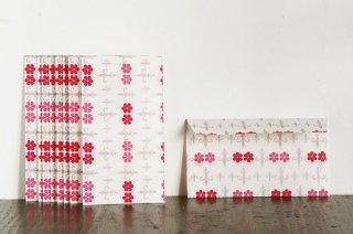 包装紙封筒 剣ピンク