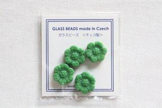 ビーズ/イングランドの花 小(緑)