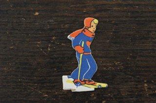 紙人形/スキーをする男の子
