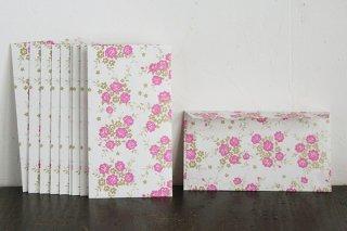 包装紙封筒 ピンクローズ