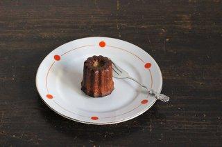 水玉模様のケーキ皿/チェコ