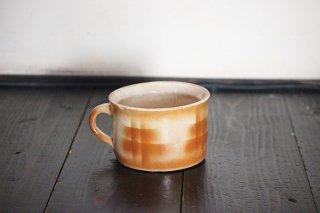 陶器のジャグ/赤茶のクロス模様/チェコ