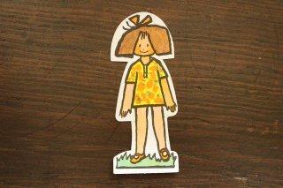 紙人形/赤いリボンの女の子