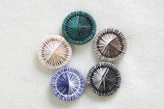 チェコの糸ボタン/16mm 5個セット 限定色5