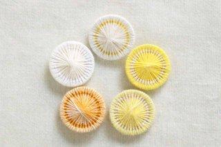 チェコの糸ボタン/16mm 5個セット 限定色3