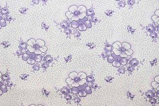 ジャーマンヴィンテージファブリック/紫ハマナス