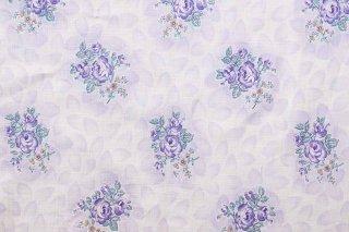 ジャーマンヴィンテージファブリック/紫のバラ