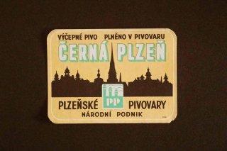 ビールラベル(CERNA PLZEN)/チェコ