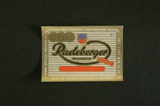 ビールラベル(Radeberger)/DDR