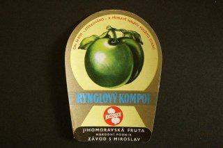 コンポートのラベル(RYNGLOVY)/チェコ
