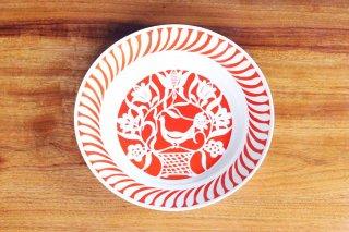 赤い鳥の絵皿/ハンガリー