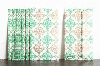 包装紙封筒 緑の柵