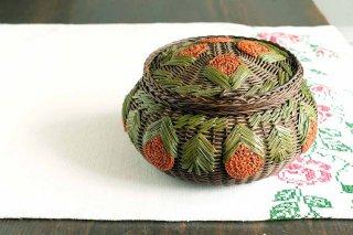 オレンジの実の裁縫籠/チェコ