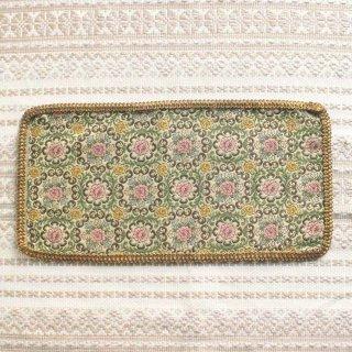 ピンクローズ模様のゴブラン敷物/ハンガリー