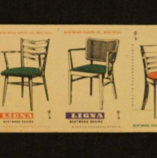 チェコのマッチラベル断裁なし310(椅子)