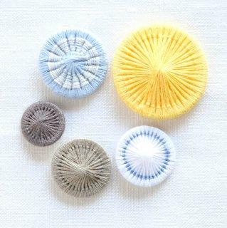 チェコの糸ボタン/5個セット(26mm入り)7