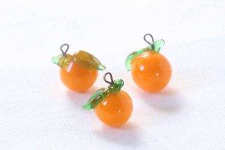 ガラス製の果物パーツ/オレンジ