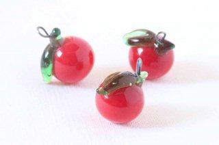 ガラス製の果物パーツ/りんご