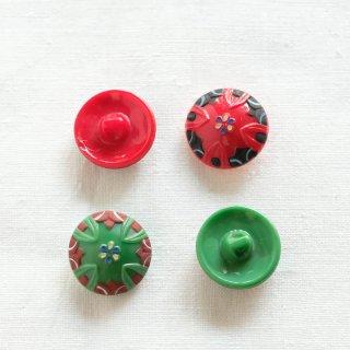 アンティークガラスボタン/つぼみ