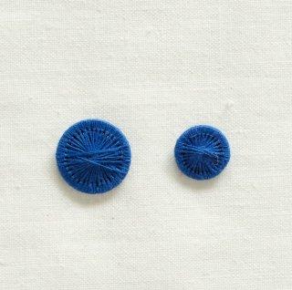 チェコの糸ボタン/青