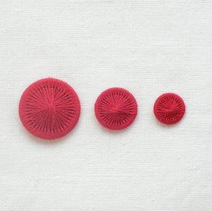 チェコの糸ボタン/紅