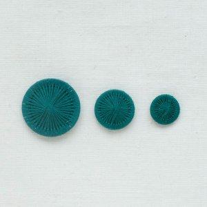 チェコの糸ボタン/緑