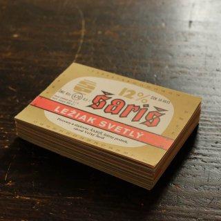 飲みものラベルのブロックメモ帳/金SARIS