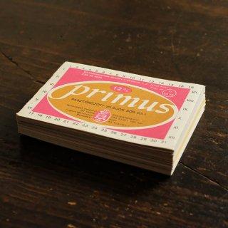 飲みものラベルのブロックメモ帳/PRIMUS