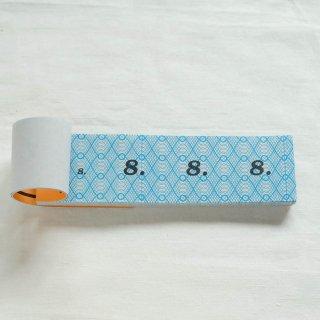 ハンガリーの波模様チケット(青)